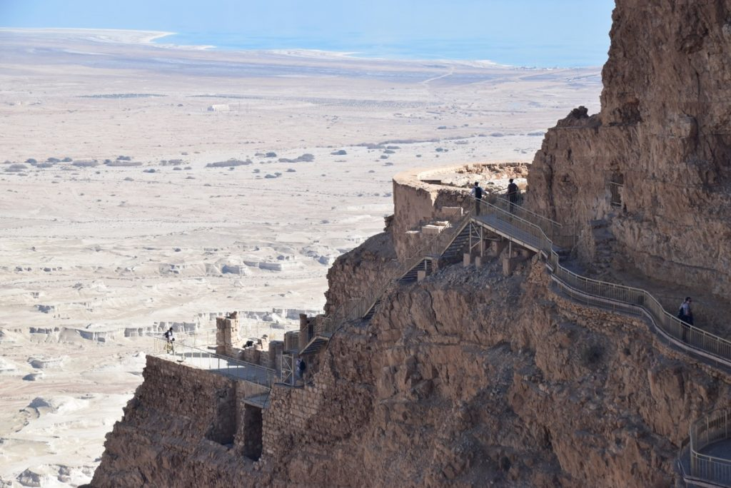 Masada northern palace February 2018 Israel Tour with John DeLancey