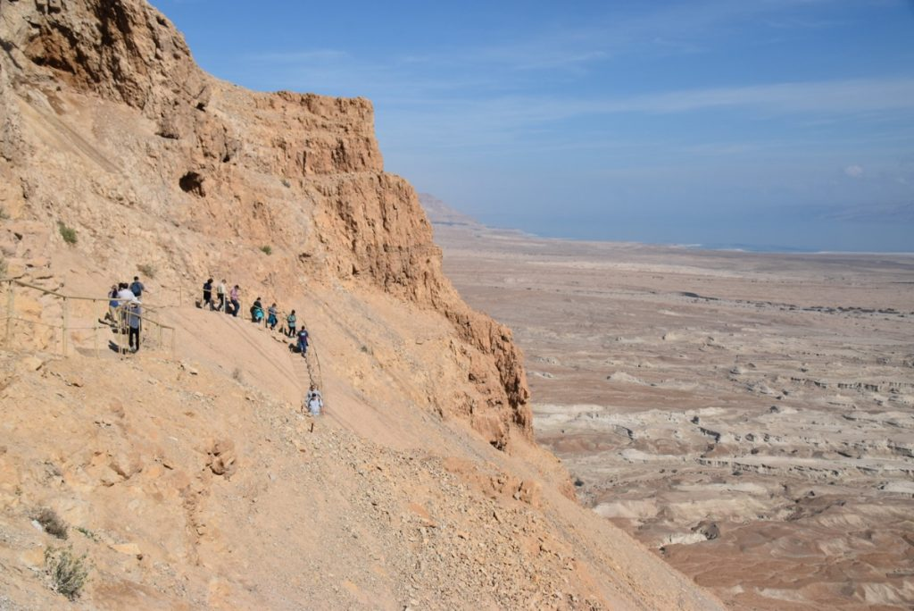 Masada Snake Path February 2018 Israel Tour with John DeLancey