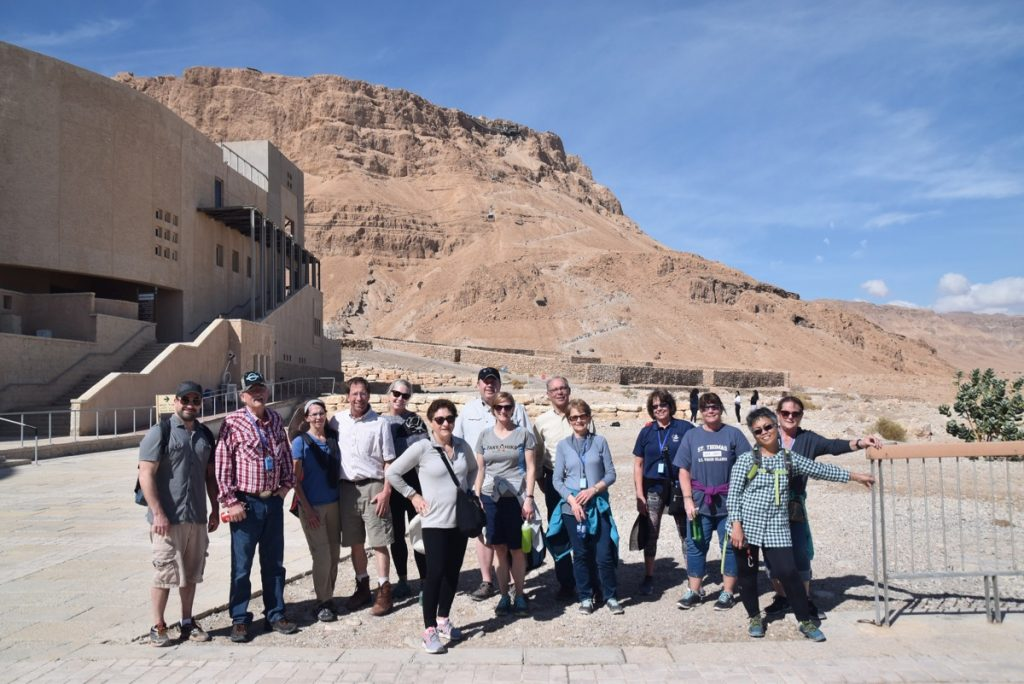 Masada snake path February 2018 Israel Tour with Dr. John DeLancey