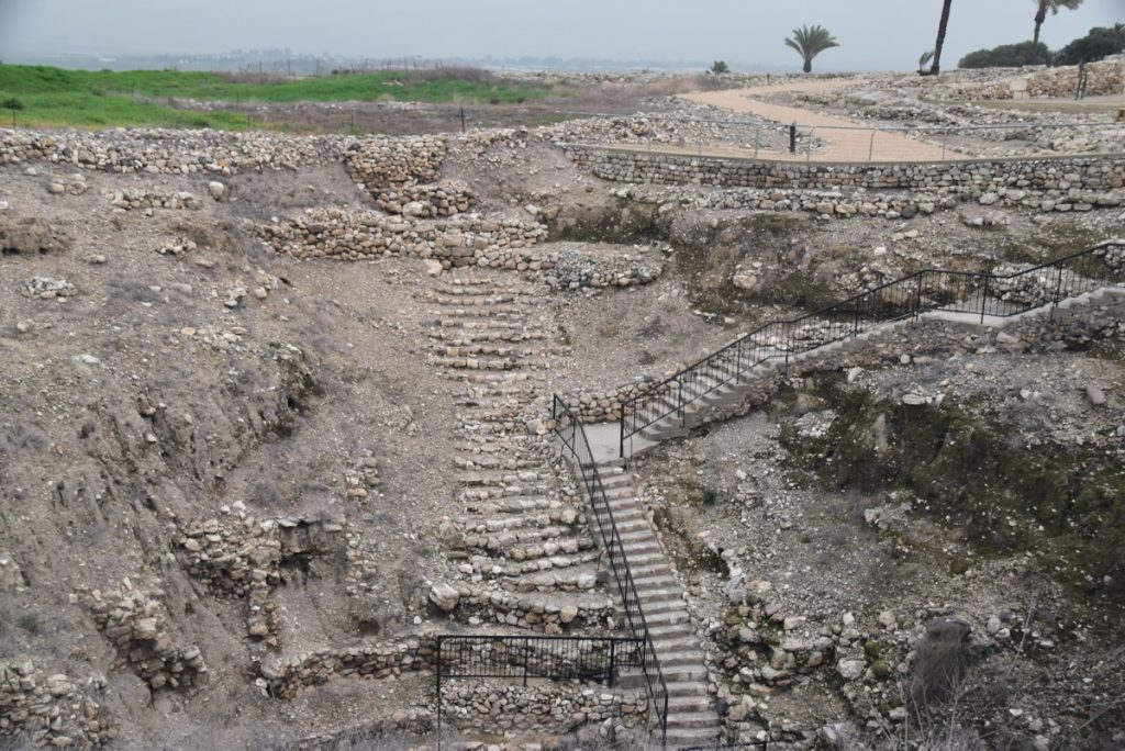 Tel Megiddo water system February 2018 Israel Tour with John DeLancey