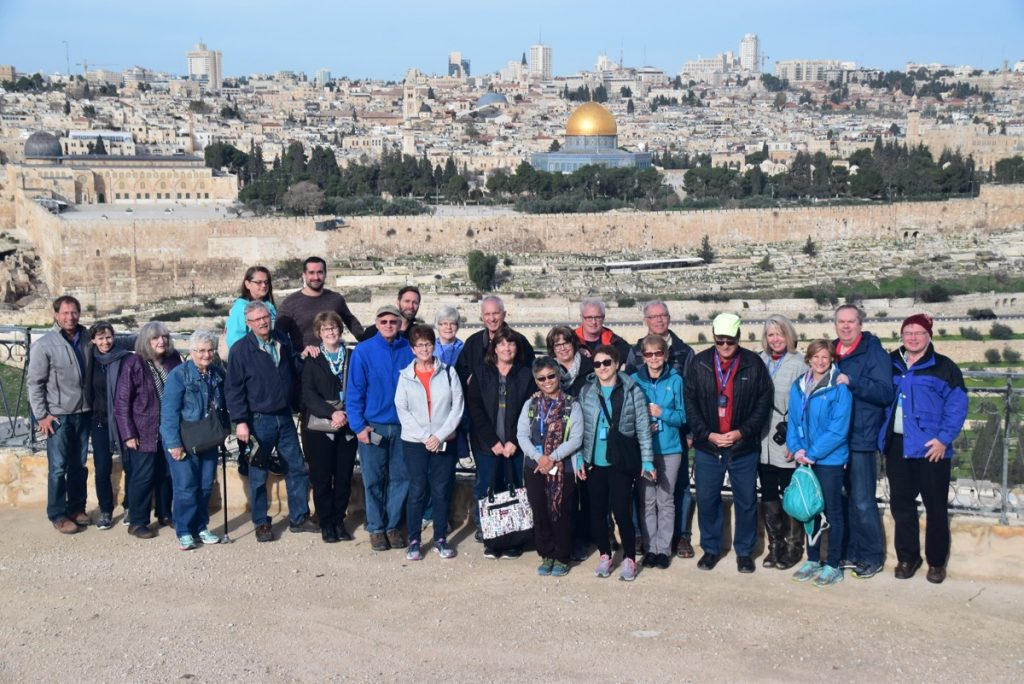 Mt. of Olives Jerusalem February 2018 Israel Tour with Dr. John DeLancey