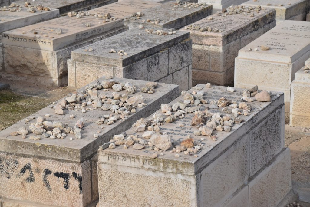 Jerusalem jewish grave February 2018 Israel Tour with John DeLancey