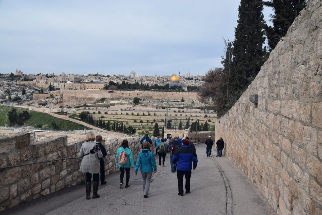 Mt. of Olives Palm Sunday February 2018 Israel Tour with John DeLancey