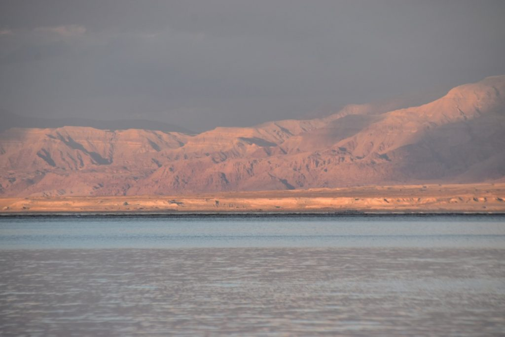 Dead Sea sunset February 2018 Israel Tour