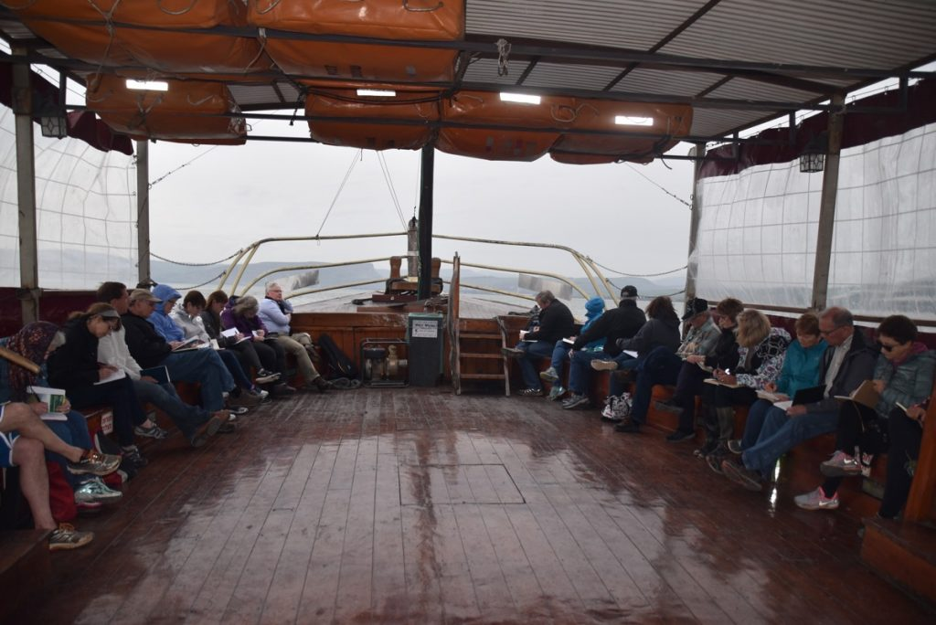 Sea of Galilee boat ride February 2018 Israel Tour