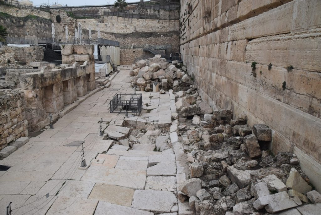 Southern wall excavations Jerusalem February 2018 Israel Tour with John DeLancey