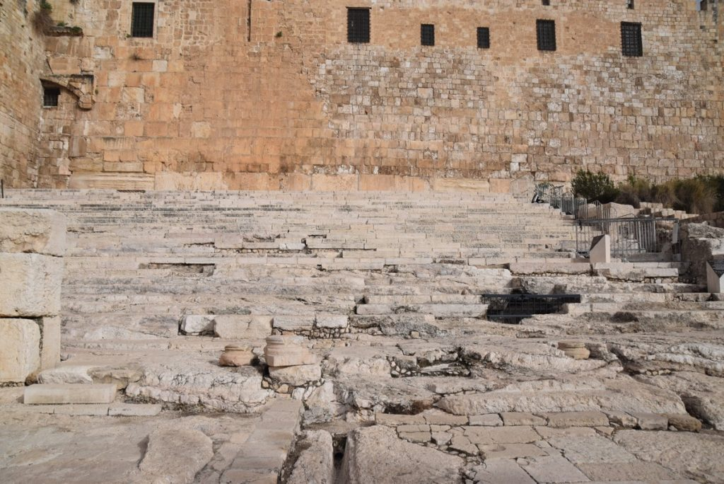 Southern steps Jerusalem February 2018 Israel Tour with John DeLancey