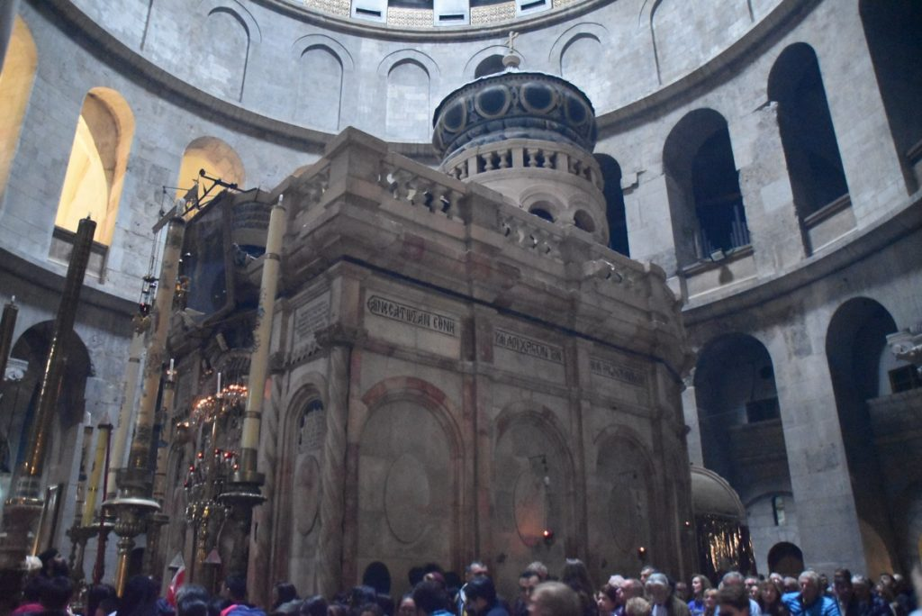 Jerusalem Edicule February 2018 Israel Tour with John DeLancey