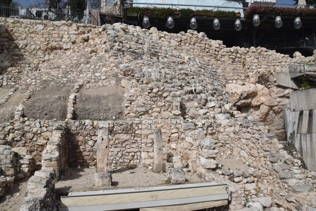 City of David excavations Jerusalem February 2018 Israel Tour with John DeLancey
