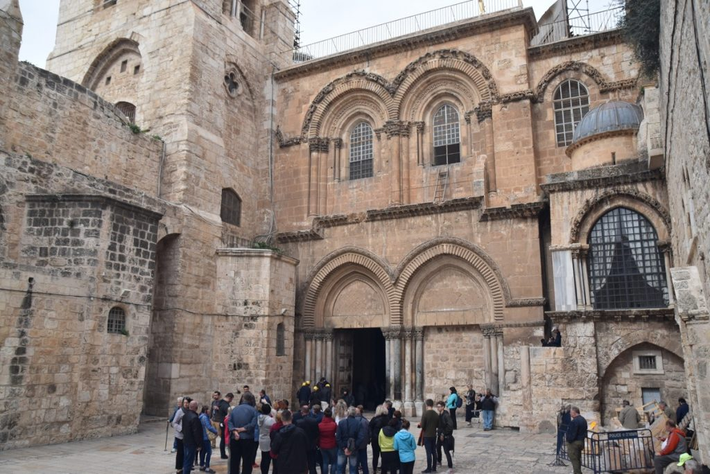 Jerusalem Holy Sepulcher February 2018 Israel Tour with John DeLancey