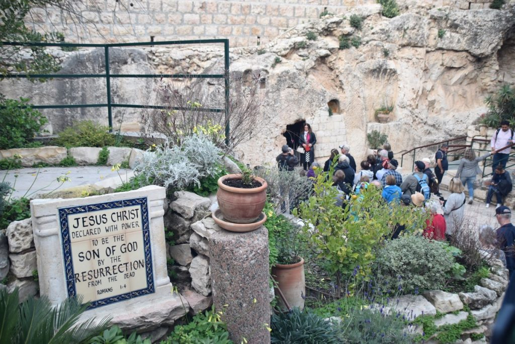 Garden tomb Jerusalem February 2018 Israel Tour with John DeLancey