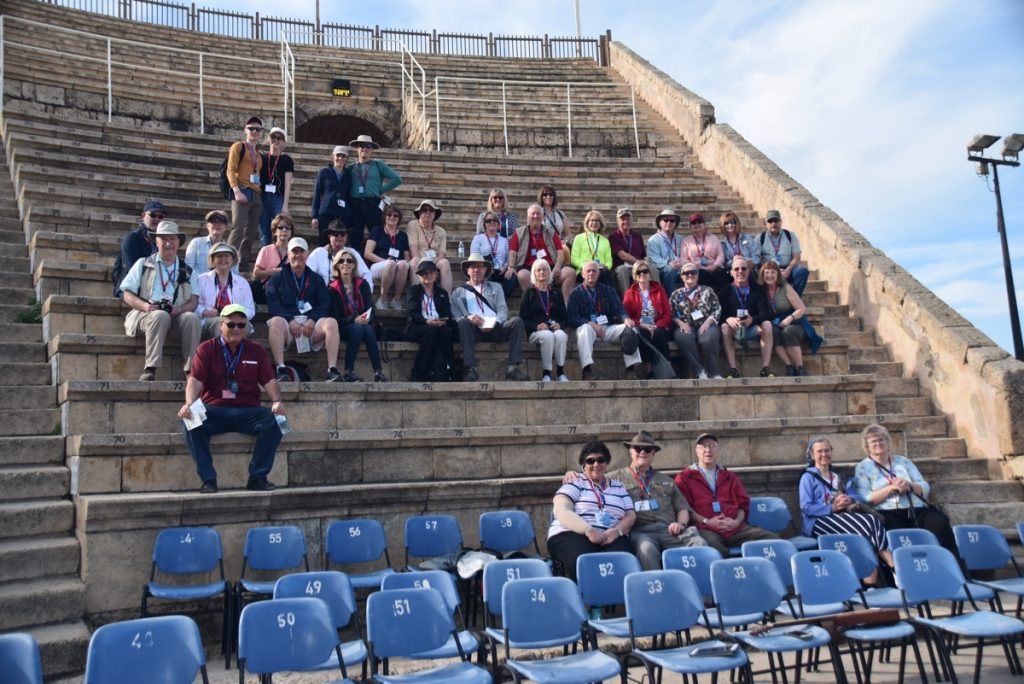 Caesarea March 2018 Israel Tour Group pictures with John DeLancey