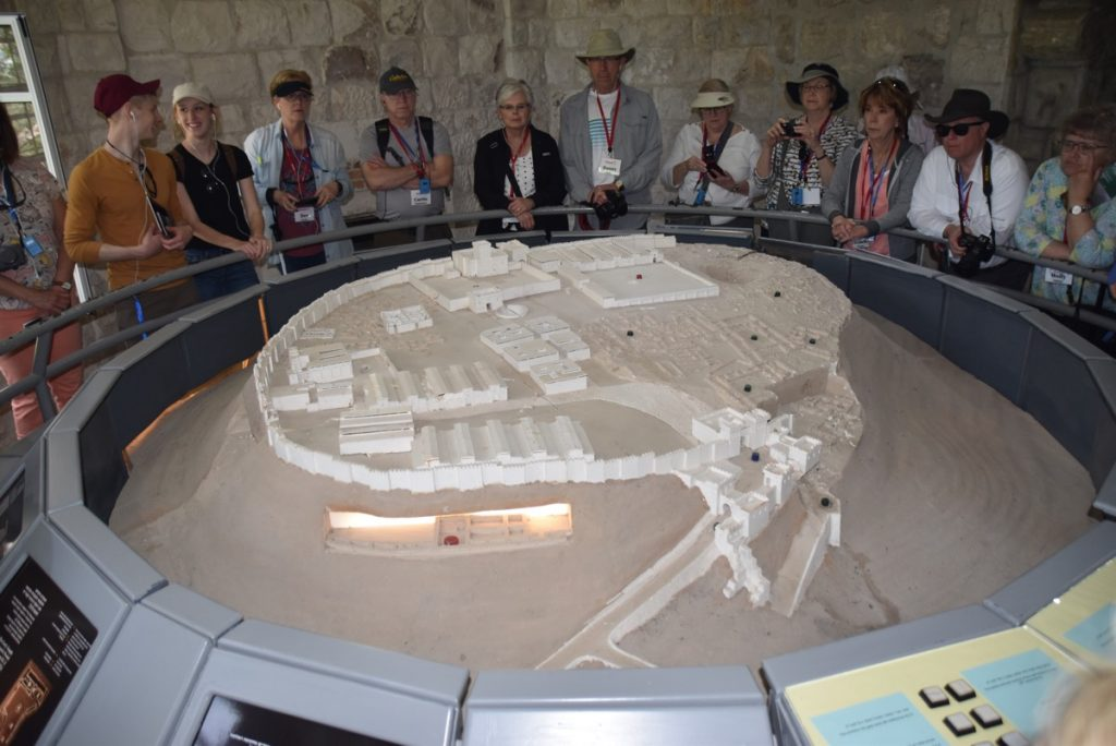 Megiddo model March 2018 Israel Tour with John DeLancey