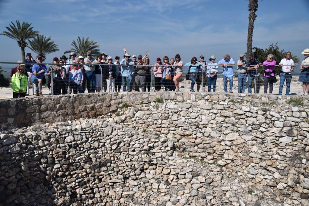 Megiddo green silo March 2018 Israel Tour with John DeLancey