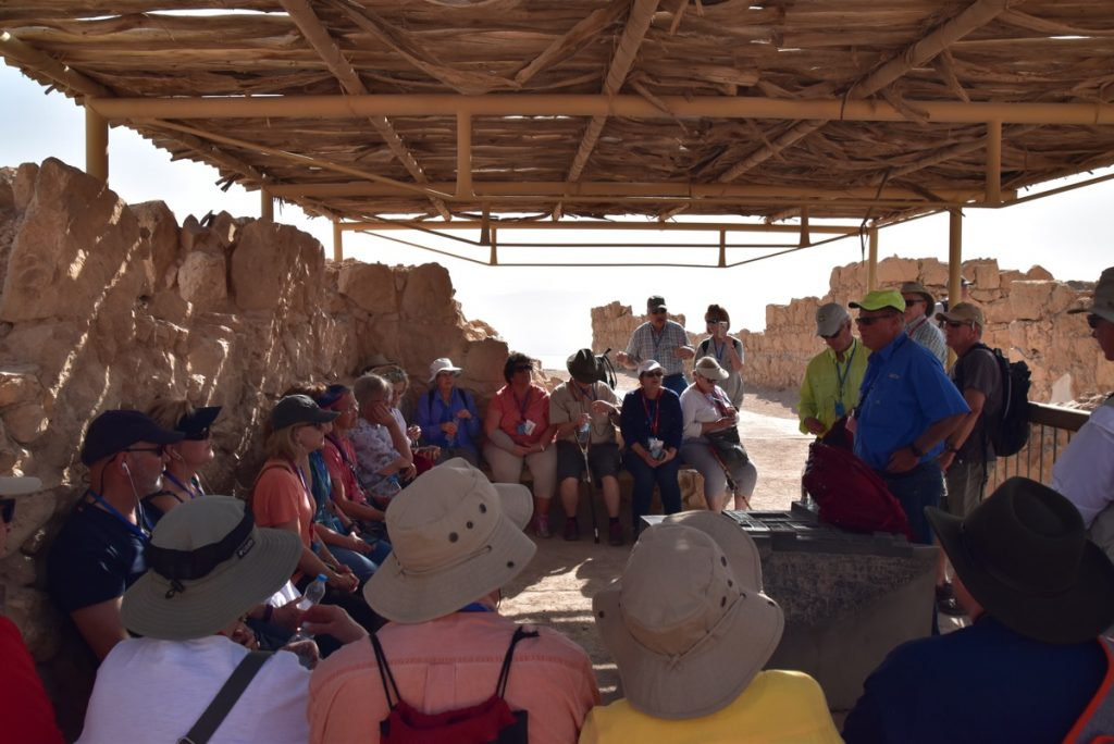 Masada March 2018 Israel Tour Group pictures with John DeLancey