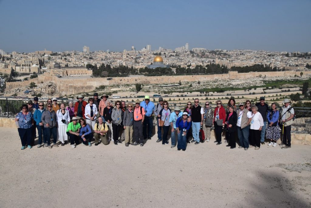 Mt. of Olives Jerusalem March 2018 Israel Tour Group pictures with John DeLancey
