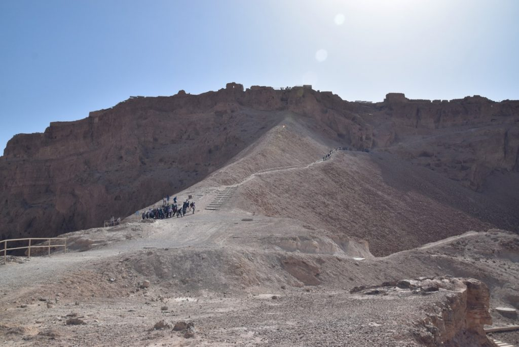 Masada roman ramp March 2018 Israel Tour with John DeLancey