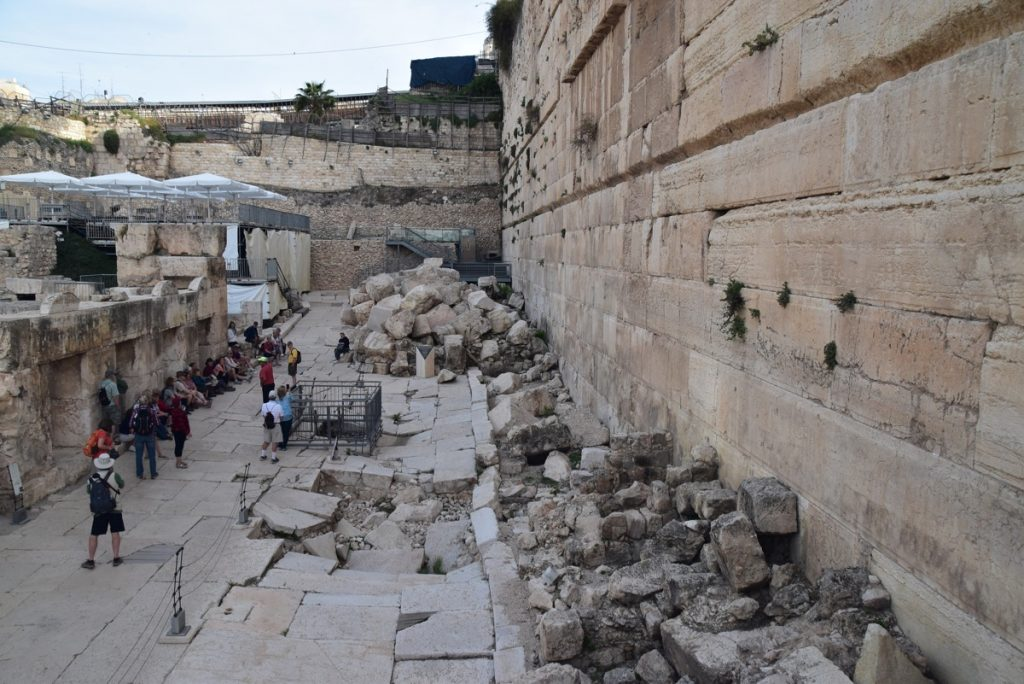 Southern wall excavations Jerusalem March 2018 Israel Tour with John DeLancey