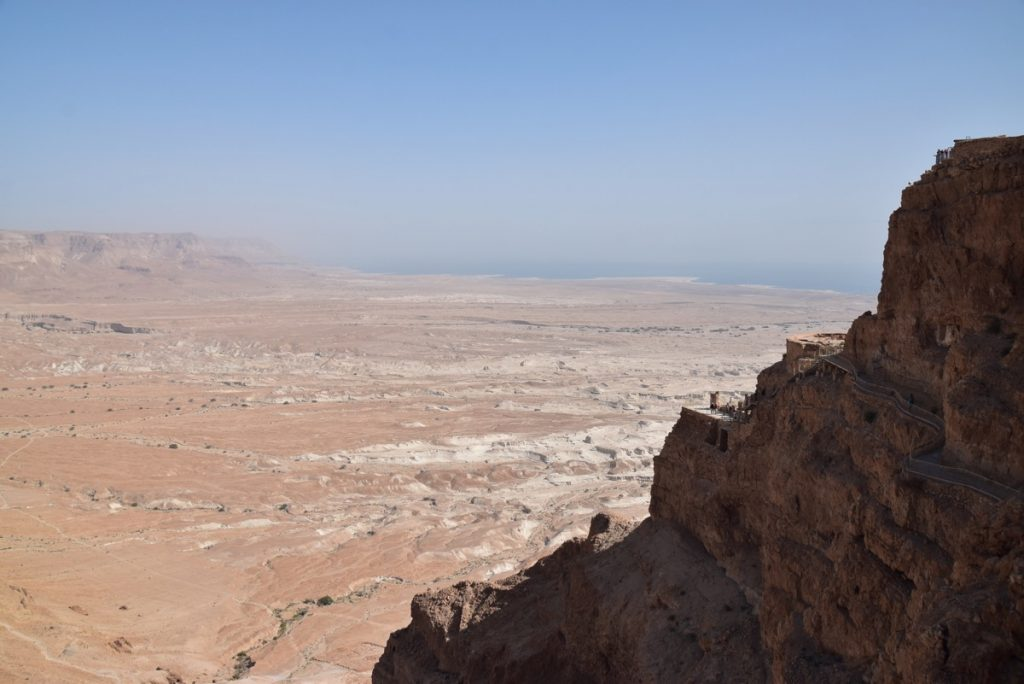 Masada northern palace March 2018 Israel Tour with John DeLancey