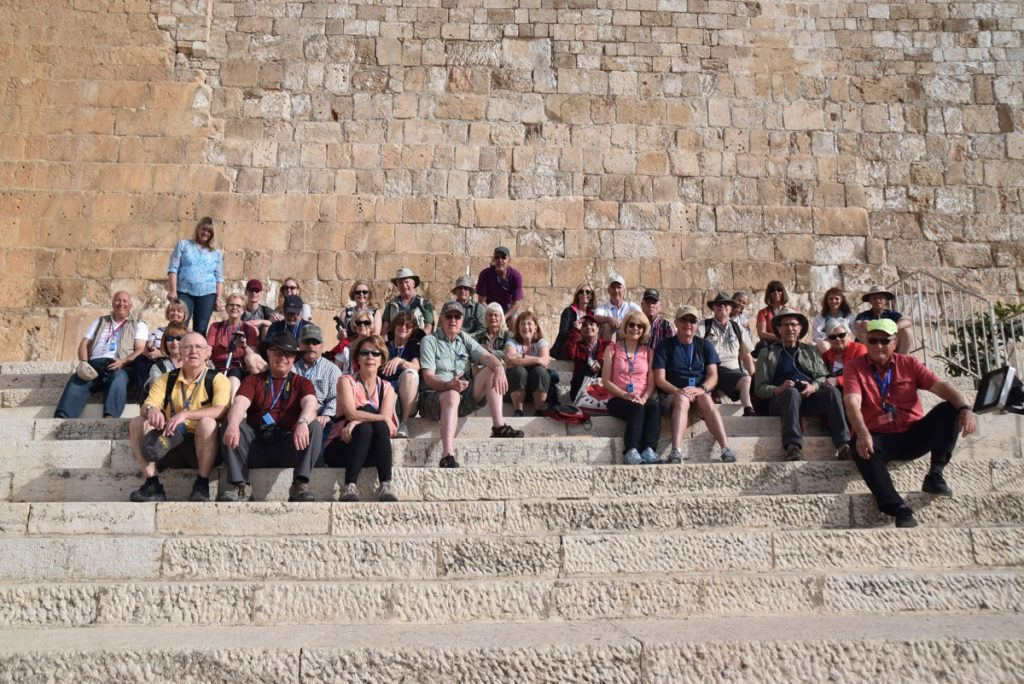 Temple Steps Jerusalem March 2018 Israel Tour Group pictures with John DeLancey