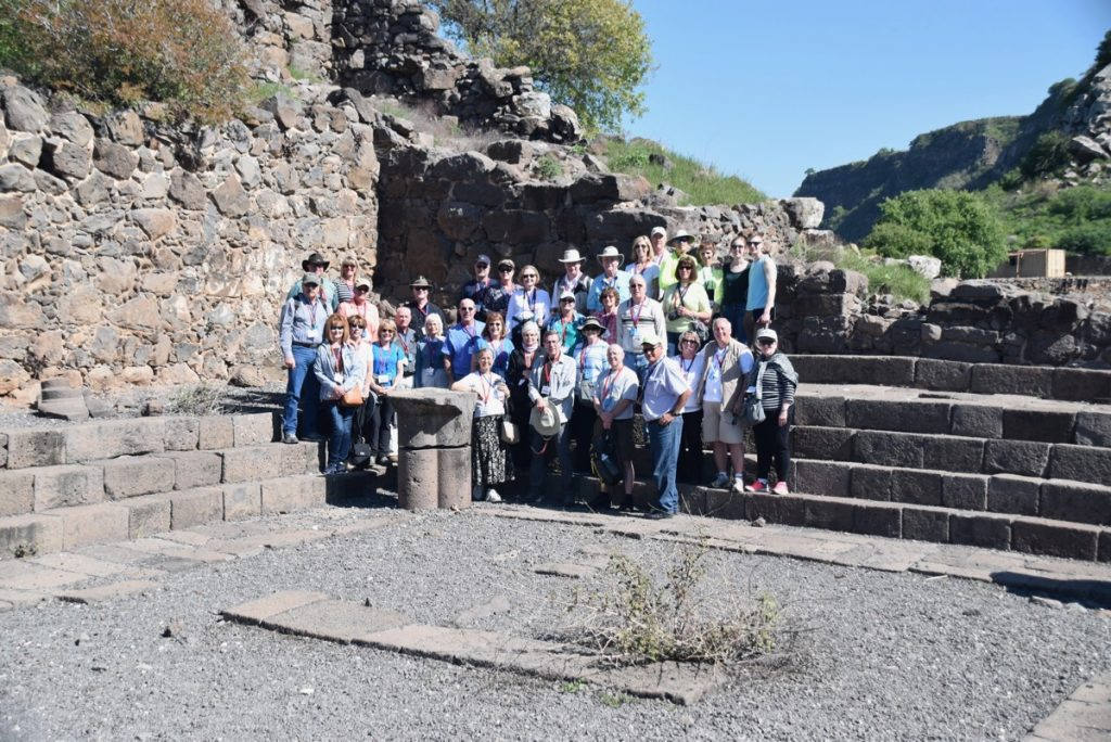 Gamla March 2018 Israel Tour Group pictures with John DeLancey