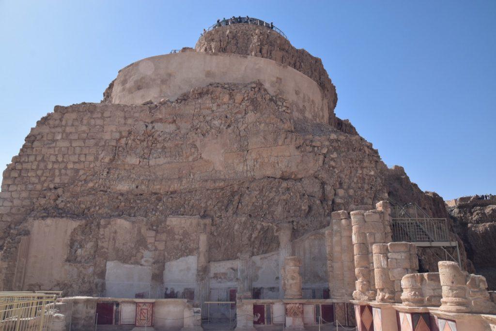 Masada northern palace March 2018 Israel Tour with John DeLancey