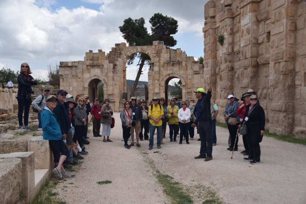 JERASH March 2018 Israel Tour Group pictures with John DeLancey
