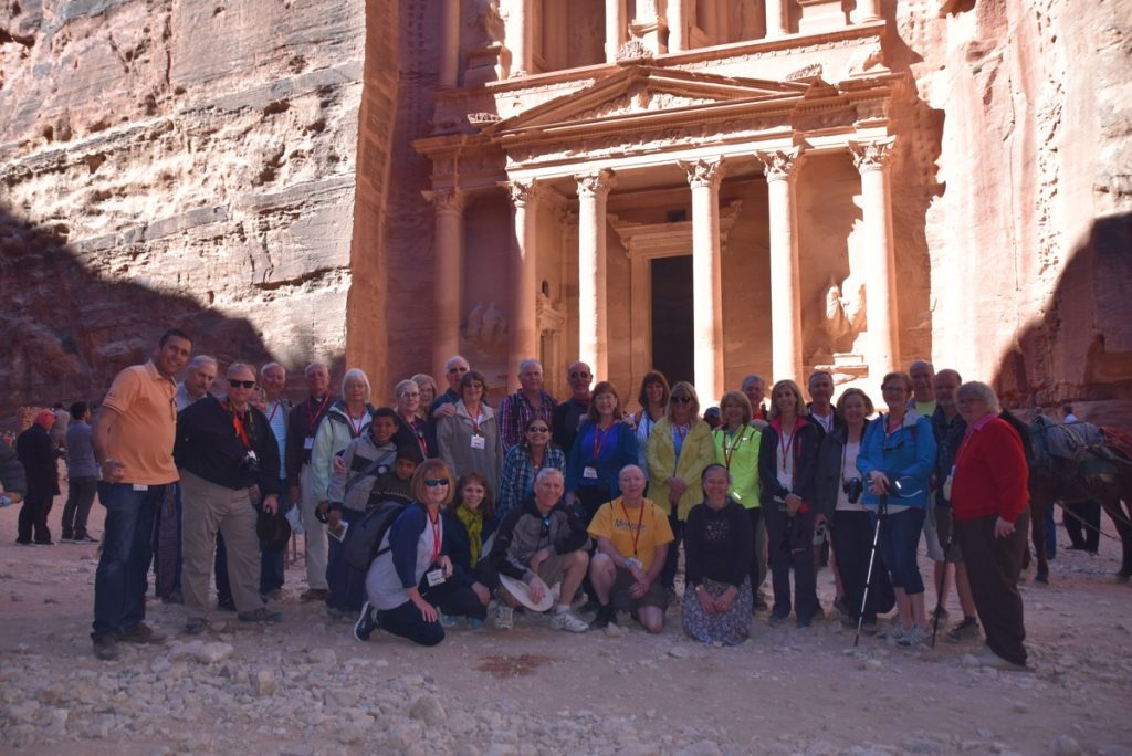 Petra Jordan March 2018 Israel Tour Group pictures with John DeLancey
