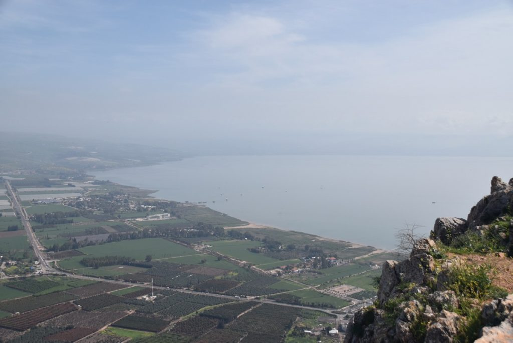 Arbel Sea of Galilee March 2018 Israel Tour with John DeLancey