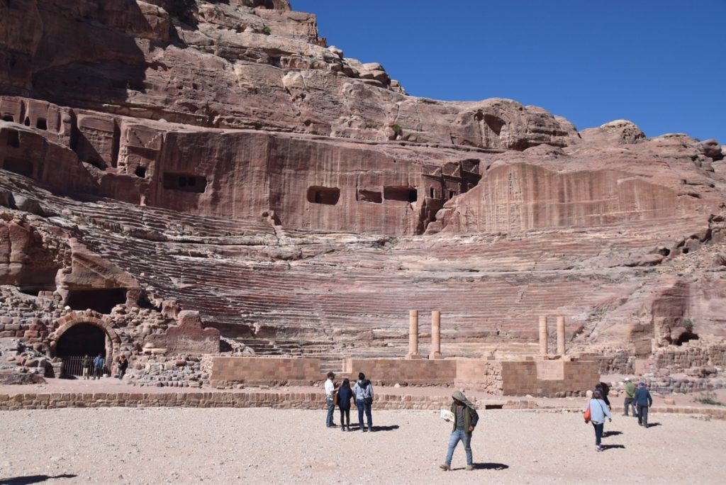 Petra Jordan theater March 2018 Israel Tour with John DeLancey