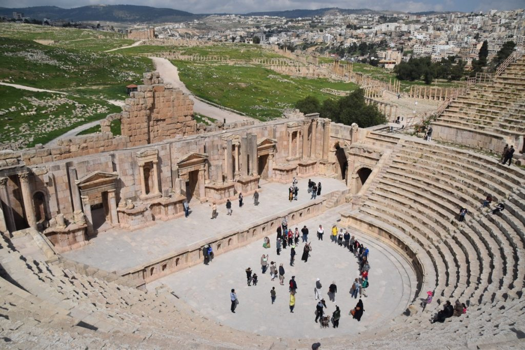 Jerash theater Jordan March 2018 Israel Tour John DeLancey