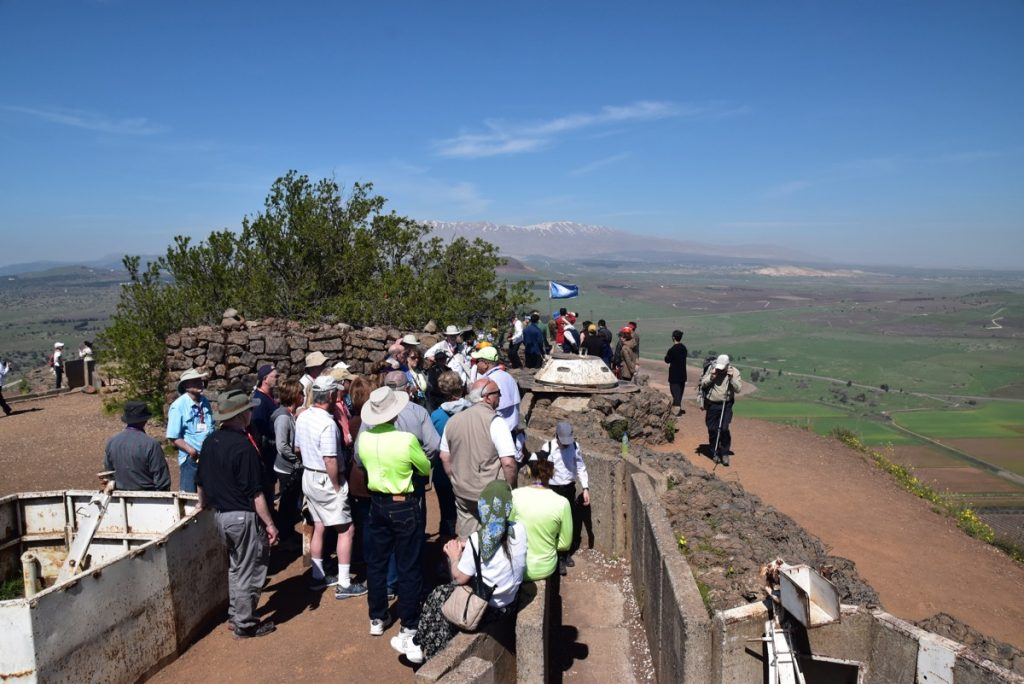 Bental March 2018 Israel Tour Group pictures with John DeLancey