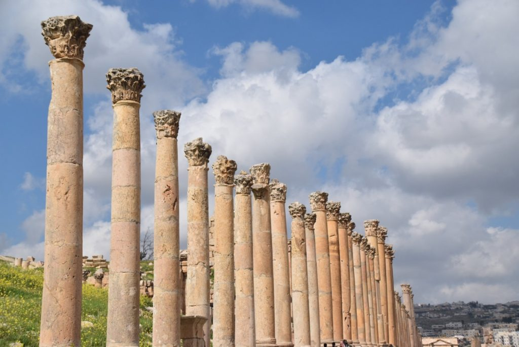 Jerash Jordan Cardo pillars March 2018 Israel Tour John DeLancey
