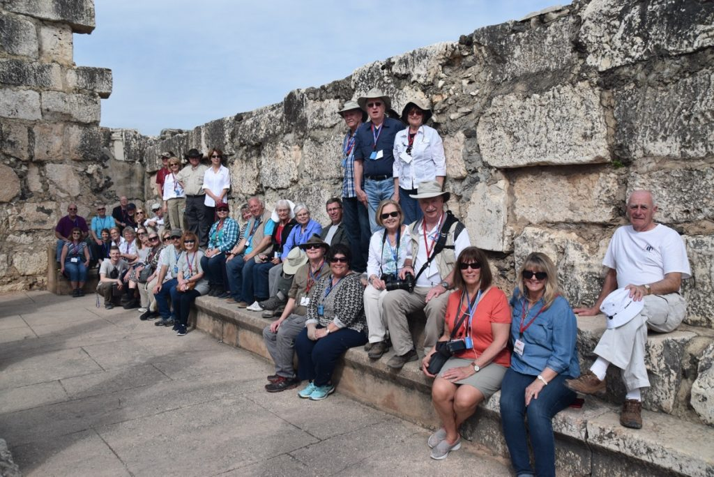 Capernaum March 2018 Israel Tour Group pictures with John DeLancey