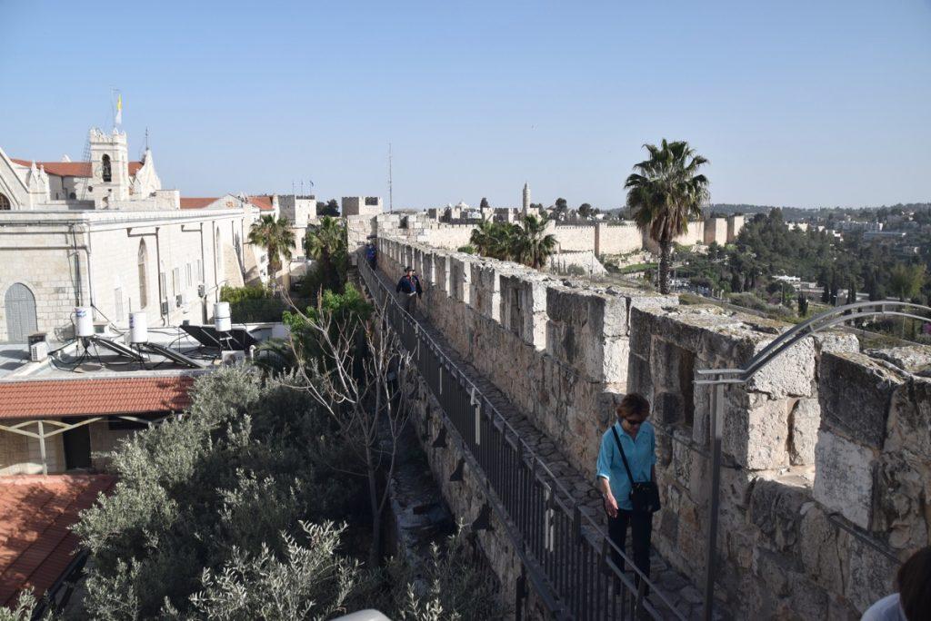 Rampart Walk Jerusalem March 2018 Israel Tour with John DeLancey