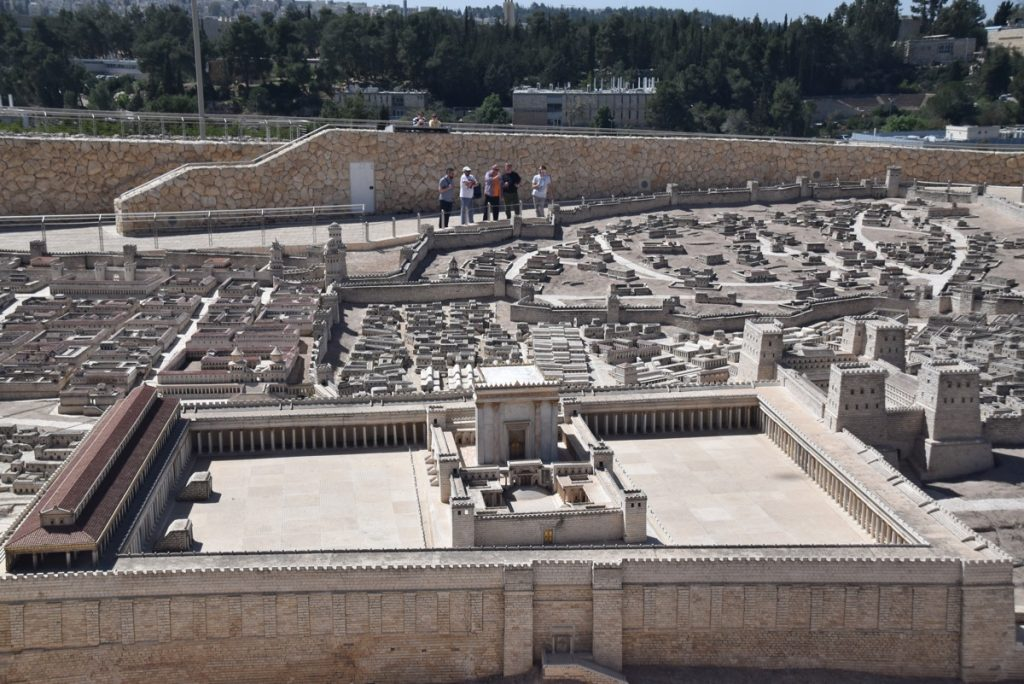 Israel Museum Jerusalem model March 2018 Israel Tour with John DeLancey