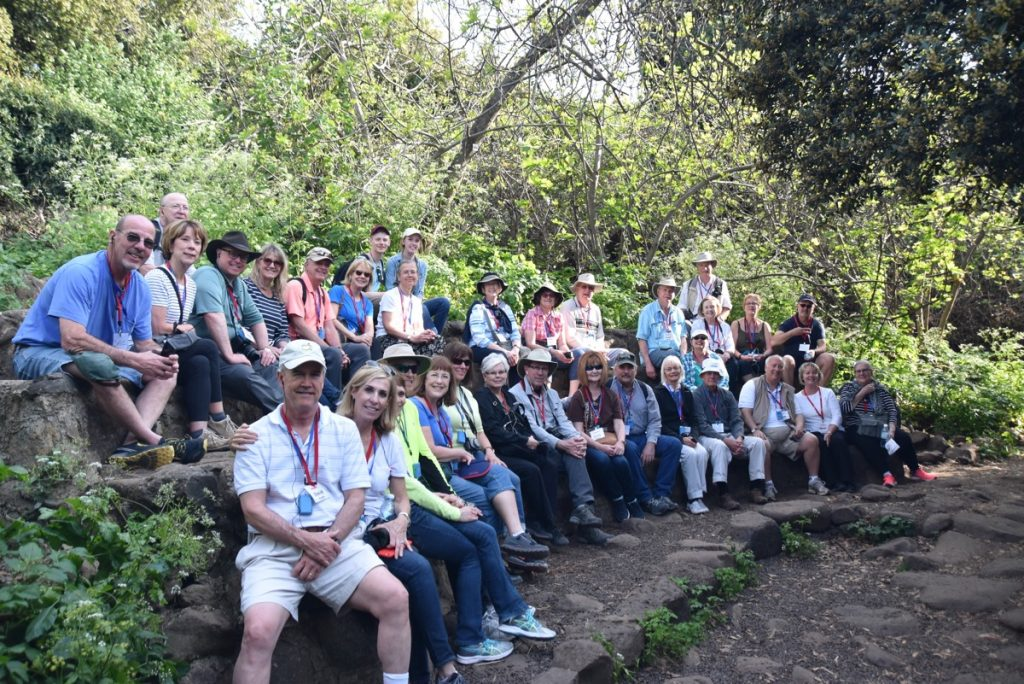 Tel Dan March 2018 Israel Tour Group pictures with John DeLancey