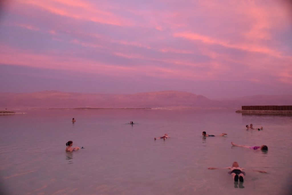 Dead Sea Float March 2018 Israel Tour with John DeLancey