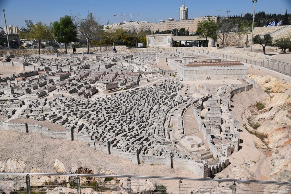 Jerusalem modell March 2018 Israel Tour with John DeLancey
