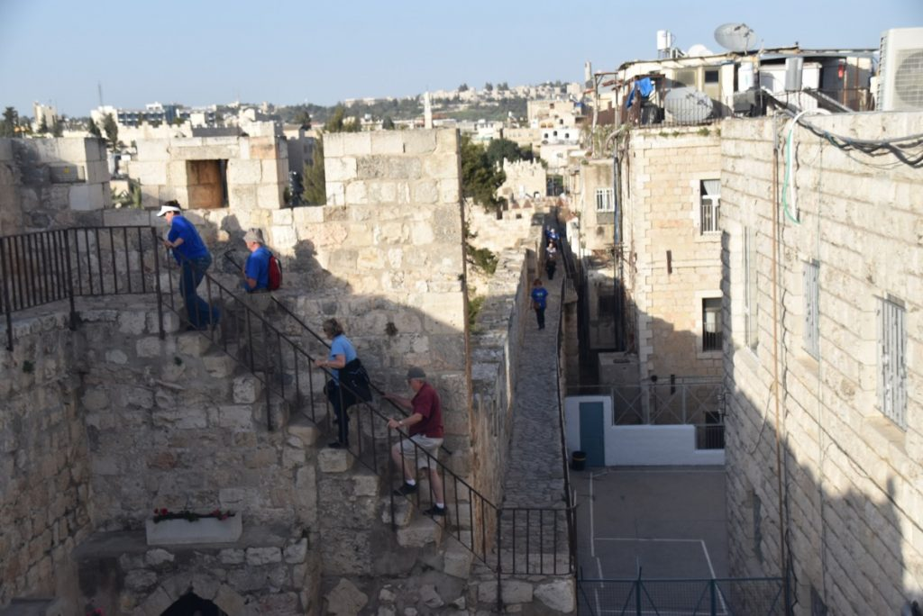 Rampart Walk Jerusalem March 2018 Israel Tour with John DeLancey