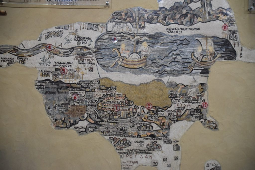 Medeba map Jordan March 2018 Israel Tour John DeLancey