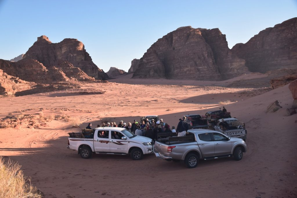 Wadi Rum Jordan March 2018 Israel Tour Group pictures with John DeLancey