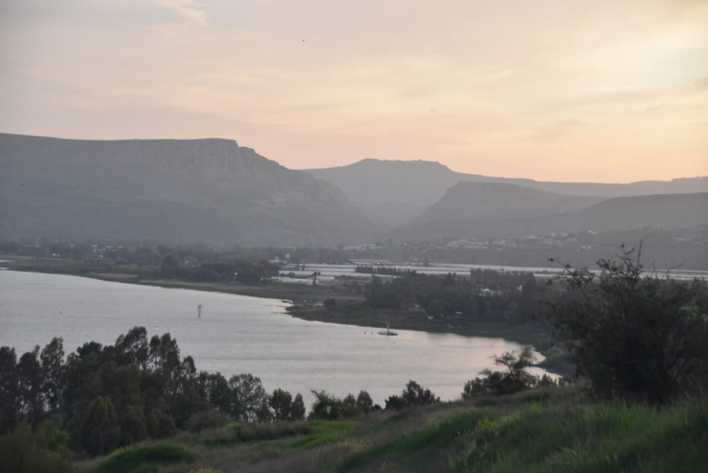 Sea of Galilee Arbel March 2018 Israel Tour with John DeLancey
