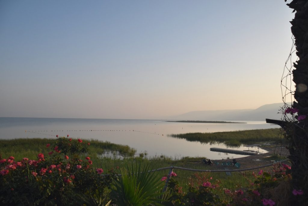 Sunrise Sea of Galilee May 2018 Israel Tour Dr. John DeLancey