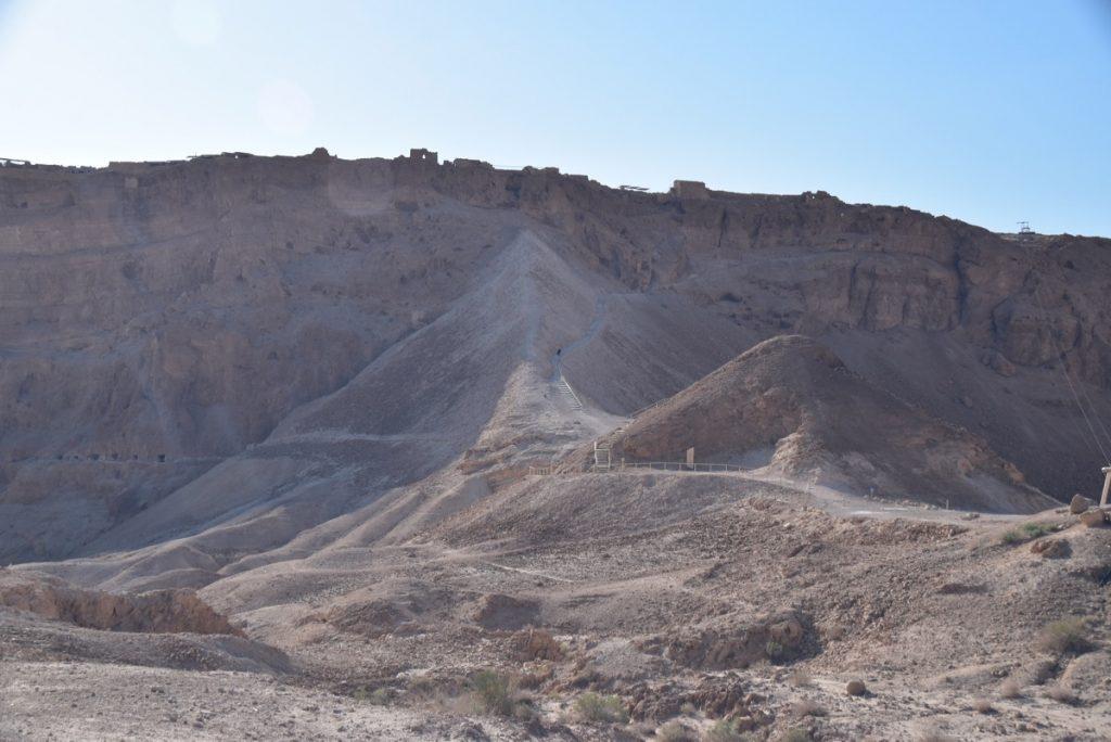 Masada Roman ramp May 2018 Israel Tour Dr. John DeLancey