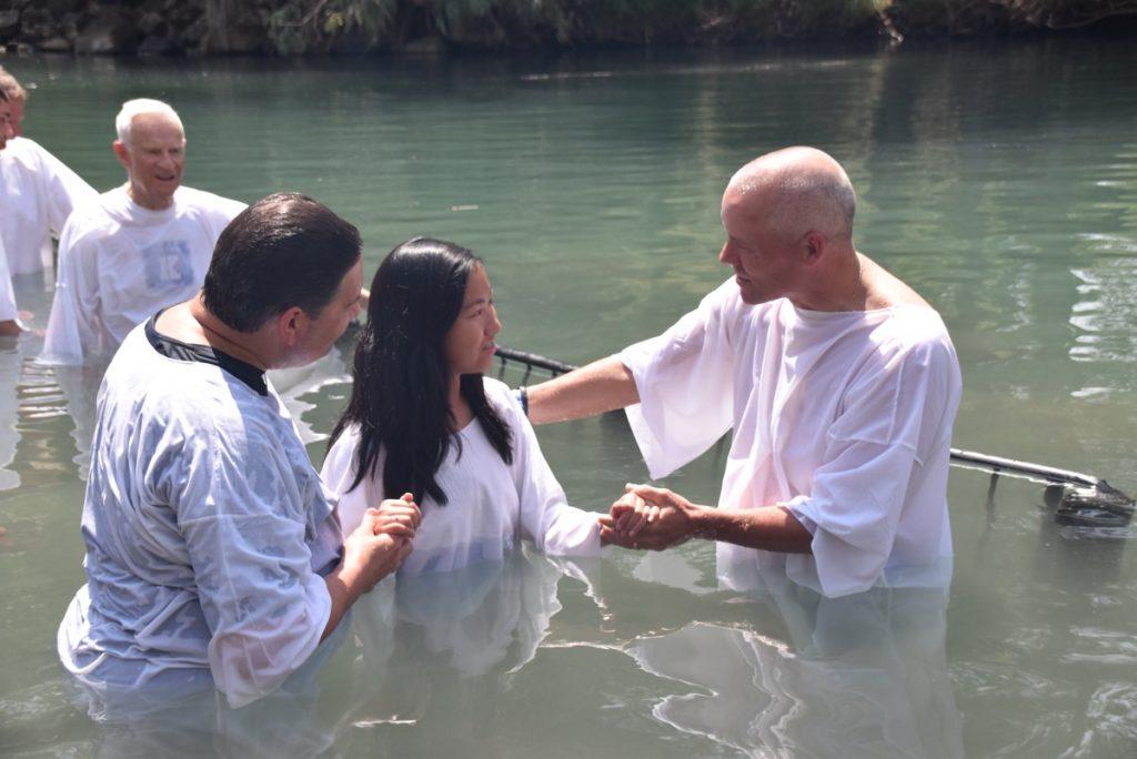 Baptism JOrdan Riverl May 2018 Israel Tour Dr. John DeLancey