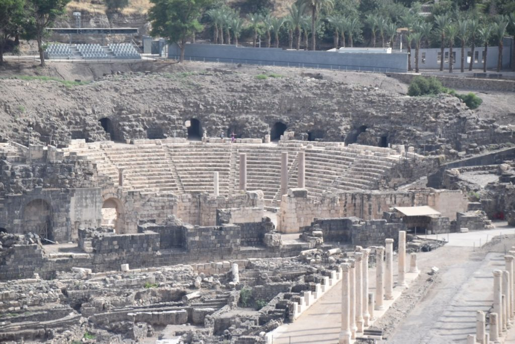 Beth Shean theater May 2018 Israel Tour Dr. John DeLancey