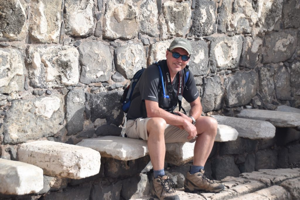 Beth Shean toilet May 2018 Israel Tour Dr. John DeLancey