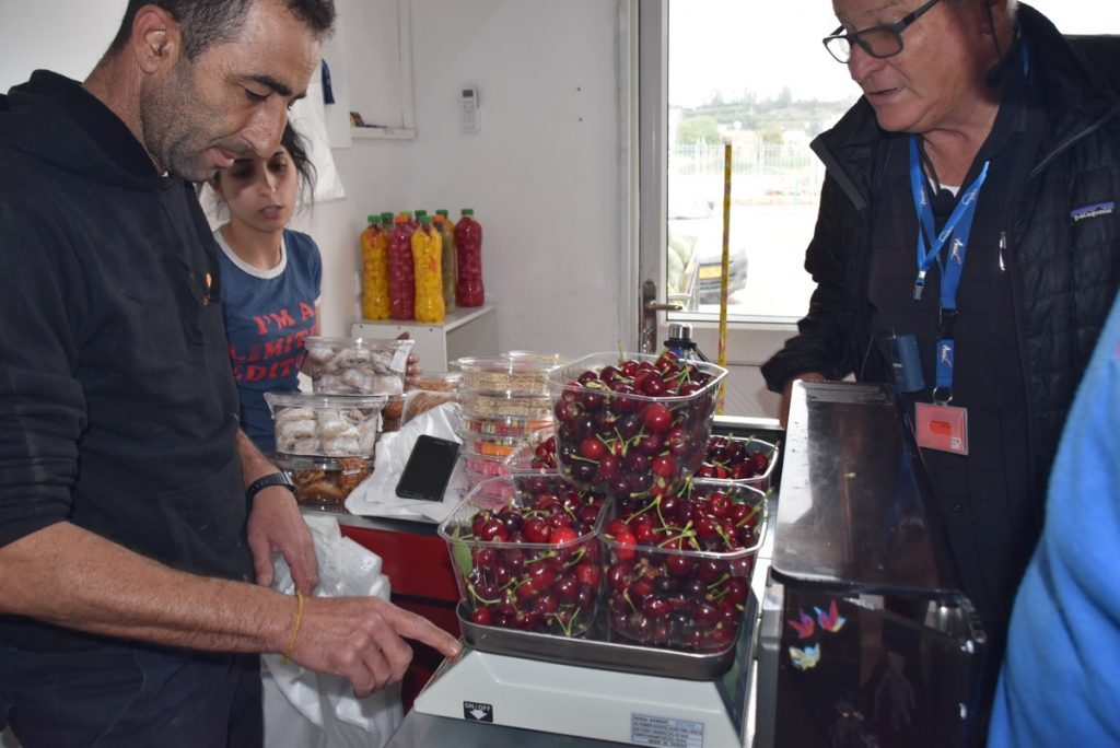 Druze cherries May 2018 Israel Tour Dr. John DeLancey