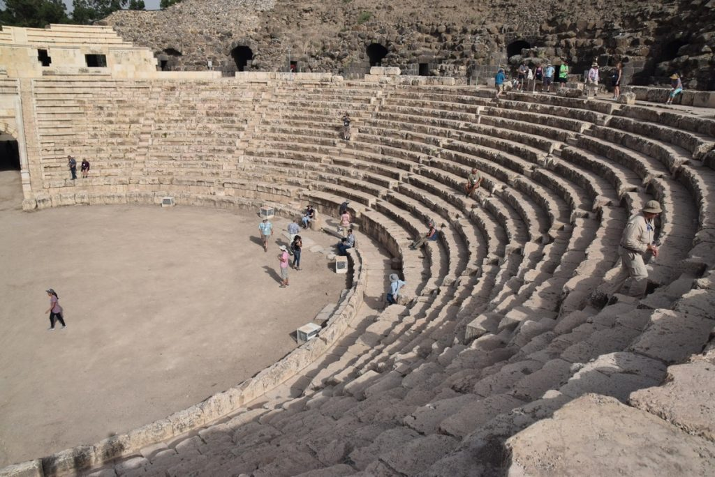 Beth Shean theater May 2018 Israel Tour Dr. John DeLancey